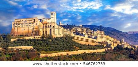 мнение · средневековых · города · Италия · небе · пейзаж - Сток-фото © tiero
