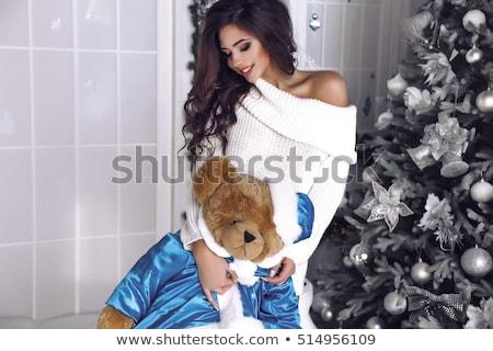 Csábító mikulás segítő közelkép portré szexi Stock fotó © chesterf