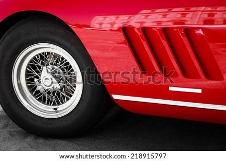 Vintage red car wheel close-up Stock photo © Kirill_M