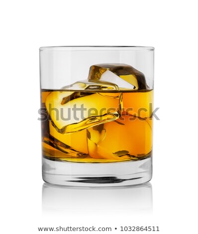 Glass of cognac or whiskey isolated on white background Stock photo © Escander81