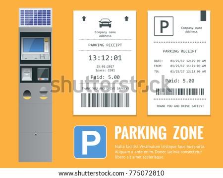 Hand is slipping parking ticket into pay machine Stock photo © Kzenon