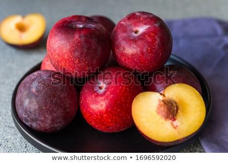 ripe plum fruit stock photo © natika