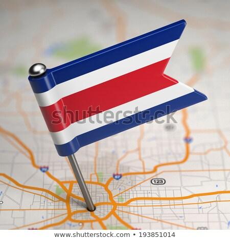 Costa Rica pequeño bandera mapa república atención selectiva Foto stock © tashatuvango