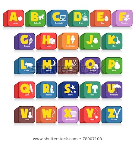 star   colored childrens alphabet blocks stock photo © tashatuvango