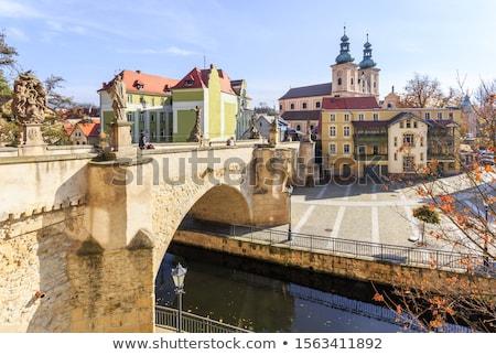 старый город Польша снизить дома здании искусства Сток-фото © andromeda