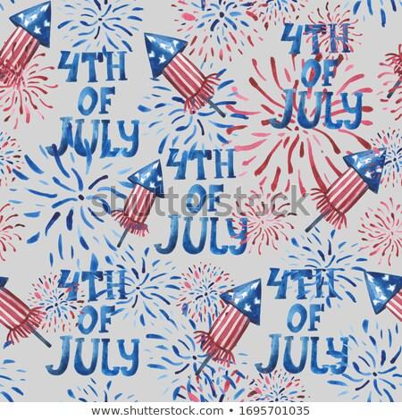 Negyedike amerikai nap zászló ünneplés kreatív Stock fotó © bharat