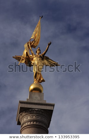 Gold winged Victory statue World War I memorial Stock photo © lunamarina