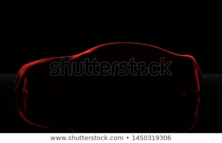 3d new covered car with red cloth Stock photo © nasirkhan