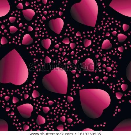 absztrakt · piros · szívek · valentin · nap · végtelen · minta · szív - stock fotó © boroda