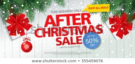 Christmas Offer Red Vector Icon Design Stock photo © rizwanali3d