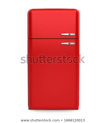 Rouge rétro réfrigérateur frigo couleur domestique Photo stock © netkov1