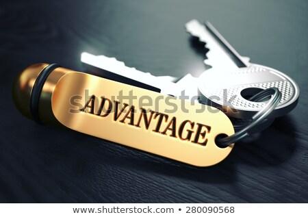 sleutels · woord · bewondering · gouden · label · zwarte - stockfoto © tashatuvango