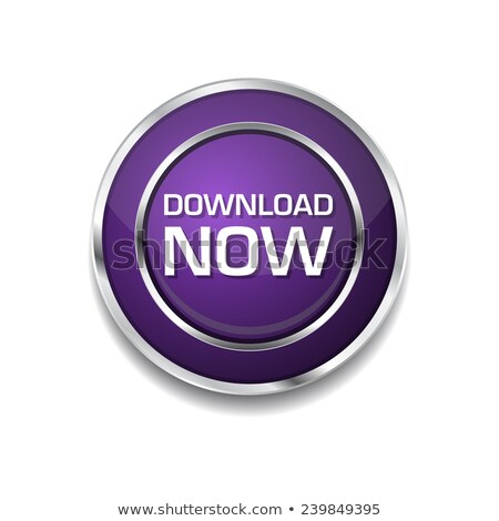 Stock photo: Download Now Purple Circular Vector Button