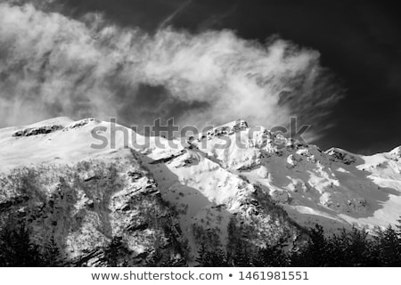 Off-piste slope with stones at windy day Stock photo © BSANI