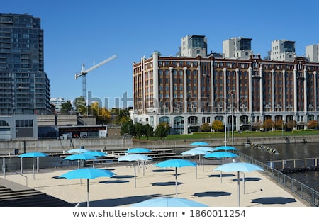 Empty beach on St.Lawrence river, Canada Stock photo © CaptureLight