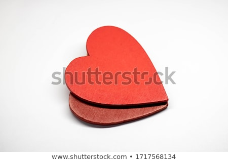 red and white hearts on old shabby wooden background stock photo © vlad_star