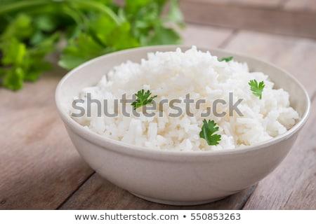 Gotowany biały ryżu żółty tablicy żywności Zdjęcia stock © Digifoodstock