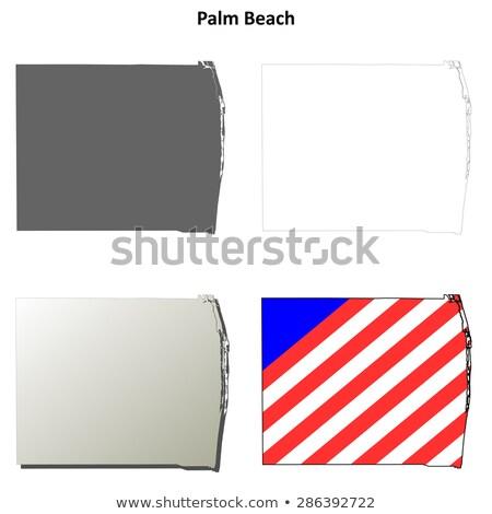 手のひら ビーチ 海岸線 フロリダ 米国 水 ストックフォト © lunamarina
