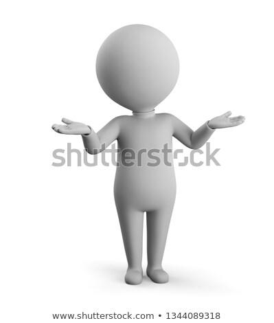 3D mały ludzi osoby stanowią obraz Zdjęcia stock © AnatolyM