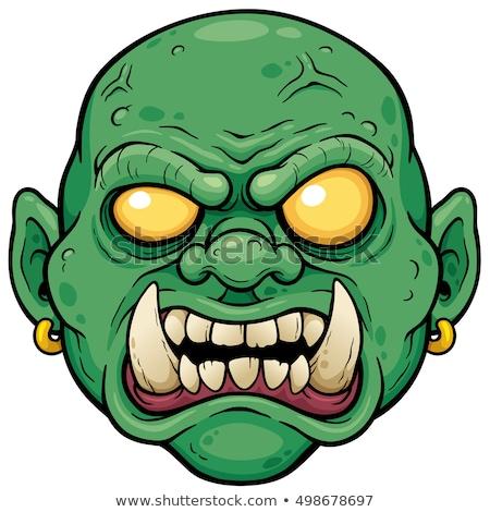 Scary лицах зомби иллюстрация белый фон Сток-фото © bluering