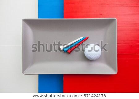 Gray ceramic dish with golf equipments   Stock photo © CaptureLight