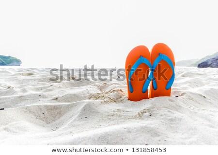 Plage sandales orange couleur illustration fond Photo stock © bluering