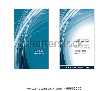 Biglietto da visita modello design blu line turbinio Foto d'archivio © SArts