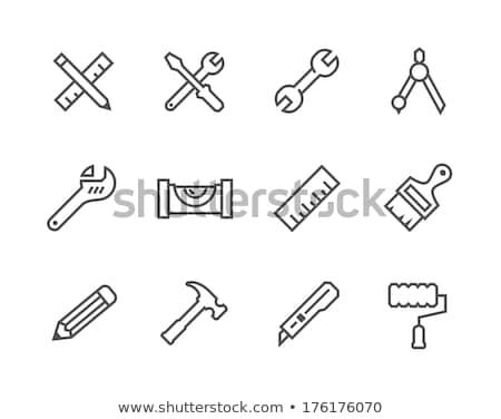 ícones · arte · ferramentas · caneta · lápis · escove - foto stock © ayaxmr