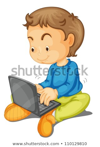 Boy Surfing the net Stock photo © sapegina