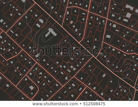 topographical map of the locality vector illustration stock photo © m_pavlov
