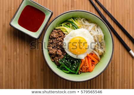 bibimbap, korean food Stock photo © M-studio