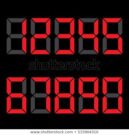 Set verde allarme orologi isolato bianco Foto d'archivio © pakete
