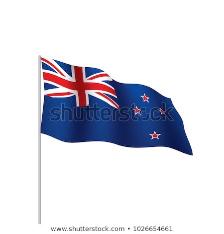 Új-Zéland zászló izolált szalag szalag szimbólum Stock fotó © popaukropa
