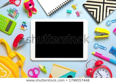 zielone · powrót · do · szkoły · obraz · drewna · edukacji · kolegium - zdjęcia stock © wavebreak_media