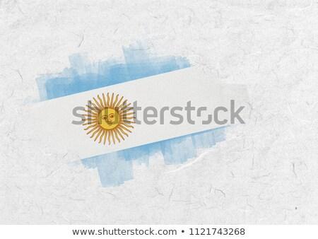 Argentine pavillon parchemin Photo stock © wavebreak_media