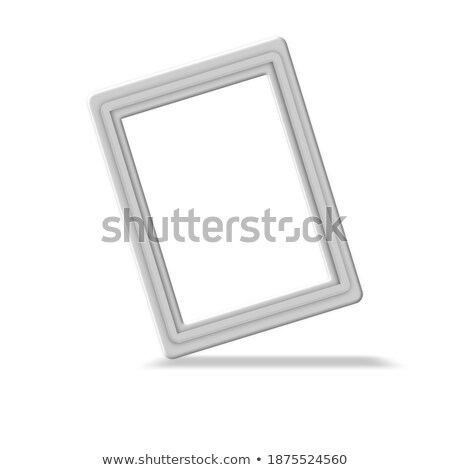 Minimalistic portrait picture frame standing on white painted br Stock photo © adamr