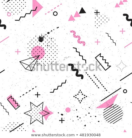 colorful soft color memphis style pattern Stock photo © SArts