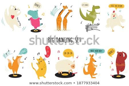 Ayarlamak tilki dans mutlu sanat dans Stok fotoğraf © bluering