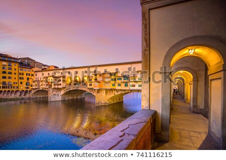 Ponte Vecchio bridge in Florence at sunrise view Stock photo © xbrchx