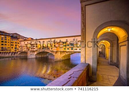 gündoğumu · nehir · Floransa · İtalya · bulutlar · şehir - stok fotoğraf © xbrchx