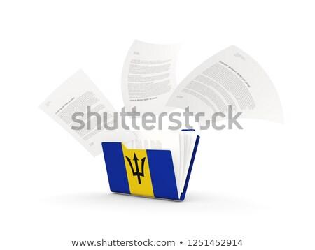 フォルダ フラグ バルバドス ファイル 孤立した 白 ストックフォト © MikhailMishchenko