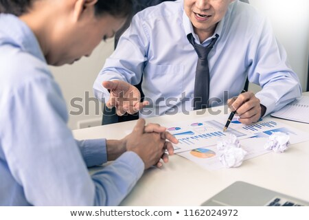 working in the office. Manager is not satisfied the argument. Bu Stock photo © snowing