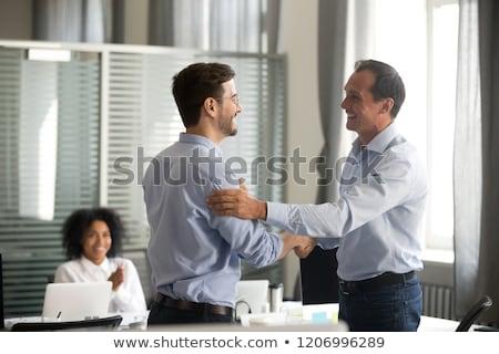 Travail d'équipe efficacité personnes travaux attribution Photo stock © robuart
