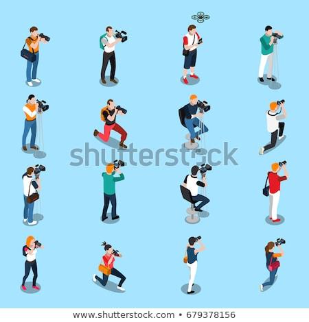 man  photographer vector icon illustration Stock photo © blaskorizov