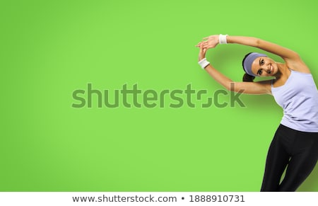 beautiful african sportswoman isolated over gray stock photo © deandrobot
