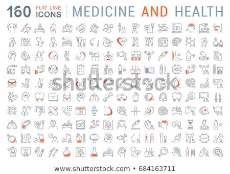 медицинской икона иллюстрация черный контуры медицина Сток-фото © olegtoka