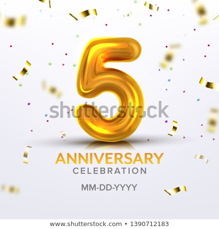 Fifth Anniversary Birth Celebration Number Vector Stock photo © pikepicture