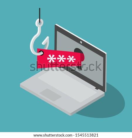 vector · aanval · illustratie · vergrootglas · internet · abstract - stockfoto © tashatuvango