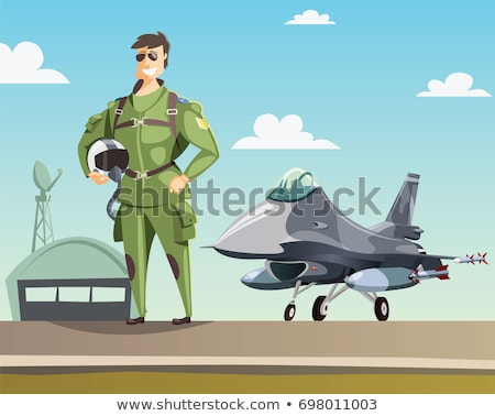 Cartoon Fighter Pilot Stock photo © Voysla