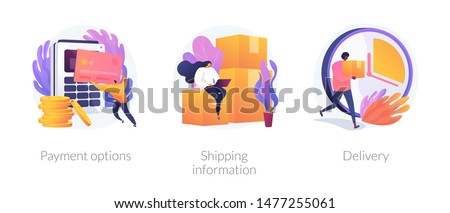 e commerce shipping vector concept metaphors stock photo © rastudio